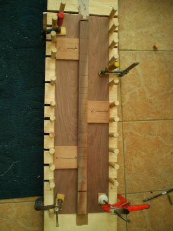 Fretboard being attached