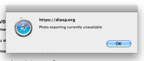 Photo exporting currently unavailable