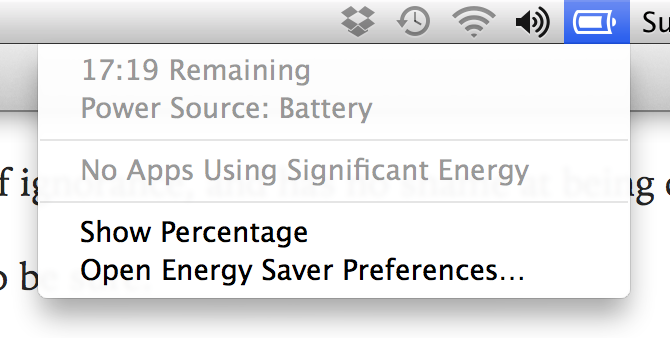 Macbook battery time remaining reads 17 hours 19 minutes