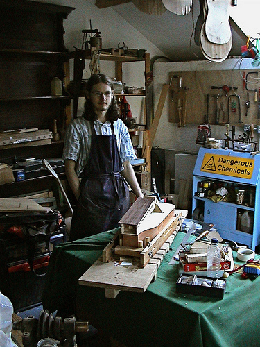 Me in my Workshop