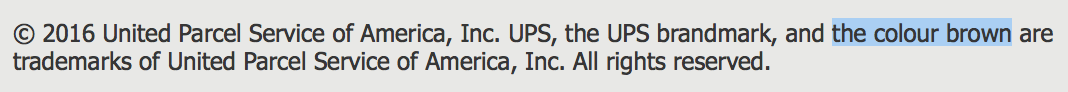 © 2016 United Parcel Service of America, Inc. UPS, the UPS brandmark, and the colour brown are trademarks of United Parcel Service of America, Inc. All rights reserved.